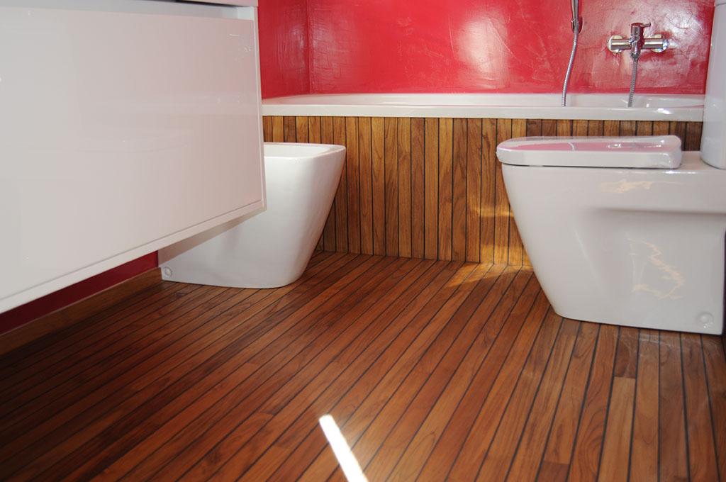 Pavimenti in legno per bagni a Scorzè (Venezia)